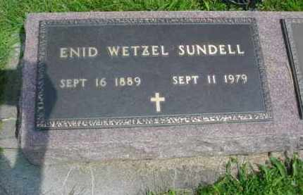 SUNDELL, ENID LENORE - McDonough County, Illinois | ENID LENORE SUNDELL - Illinois Gravestone Photos