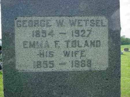WETSEL, GEROGE W. - McDonough County, Illinois | GEROGE W. WETSEL - Illinois Gravestone Photos