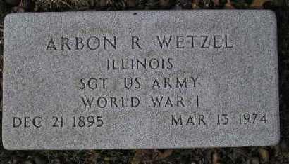 WETZEL, ARBON R. - McDonough County, Illinois   ARBON R. WETZEL - Illinois Gravestone Photos