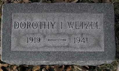 WETZEL, DOROTHY I. - McDonough County, Illinois | DOROTHY I. WETZEL - Illinois Gravestone Photos