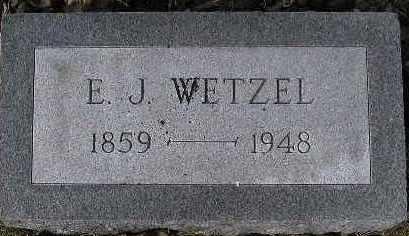 WETZEL, E.J. - McDonough County, Illinois | E.J. WETZEL - Illinois Gravestone Photos