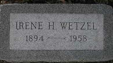 WETZEL, IRENE - McDonough County, Illinois | IRENE WETZEL - Illinois Gravestone Photos