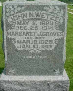 GRAVES WETZEL, MARGARET JANE - McDonough County, Illinois | MARGARET JANE GRAVES WETZEL - Illinois Gravestone Photos