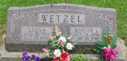WETZEL, ROSCOE IVAN - McDonough County, Illinois | ROSCOE IVAN WETZEL - Illinois Gravestone Photos