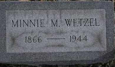 WETZEL, MINNIE MATILDA - McDonough County, Illinois | MINNIE MATILDA WETZEL - Illinois Gravestone Photos