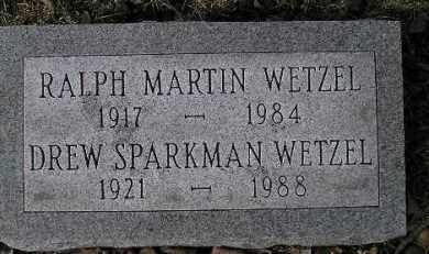 WETZEL, DREW - McDonough County, Illinois | DREW WETZEL - Illinois Gravestone Photos