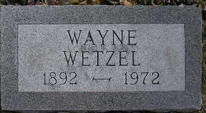 WETZEL, WAYNE - McDonough County, Illinois | WAYNE WETZEL - Illinois Gravestone Photos
