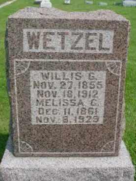 WETZEL, MELISSA GINERVA - McDonough County, Illinois | MELISSA GINERVA WETZEL - Illinois Gravestone Photos