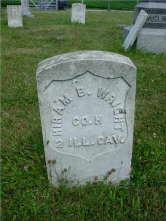 WRIGHT, HIRAM B. - McDonough County, Illinois   HIRAM B. WRIGHT - Illinois Gravestone Photos