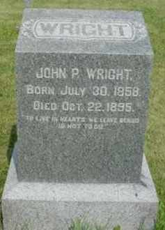 WRIGHT, JOHN P. - McDonough County, Illinois | JOHN P. WRIGHT - Illinois Gravestone Photos