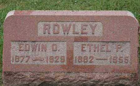 ROWLEY, ETHEL P. - McHenry County, Illinois | ETHEL P. ROWLEY - Illinois Gravestone Photos