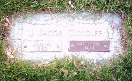 CUNDIFF, J. JACOB - McLean County, Illinois | J. JACOB CUNDIFF - Illinois Gravestone Photos