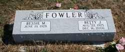 FOWLER, BESSIE M - McLean County, Illinois | BESSIE M FOWLER - Illinois Gravestone Photos