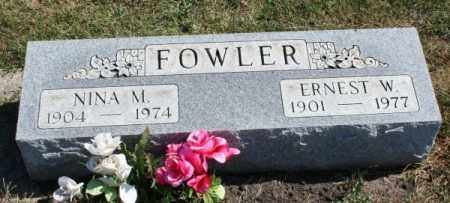 FOWLER, ERNEST W - McLean County, Illinois | ERNEST W FOWLER - Illinois Gravestone Photos
