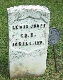 JONES, LEWIS - McLean County, Illinois | LEWIS JONES - Illinois Gravestone Photos