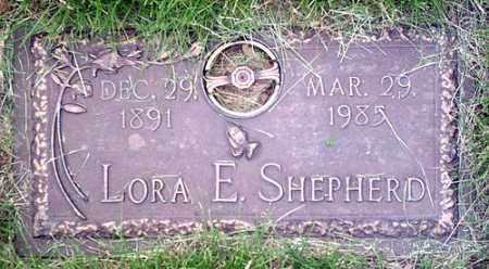 SHEPHERD, LORA - McLean County, Illinois | LORA SHEPHERD - Illinois Gravestone Photos
