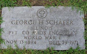 SCHAFER, SR., GEORGE HERMAN - Menard County, Illinois   GEORGE HERMAN SCHAFER, SR. - Illinois Gravestone Photos