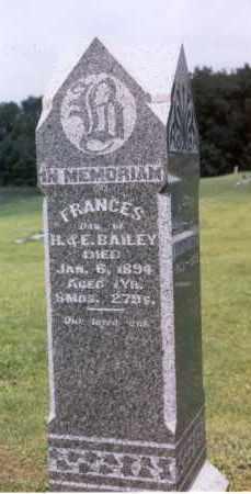 BAILEY, FRANCES - Mercer County, Illinois   FRANCES BAILEY - Illinois Gravestone Photos
