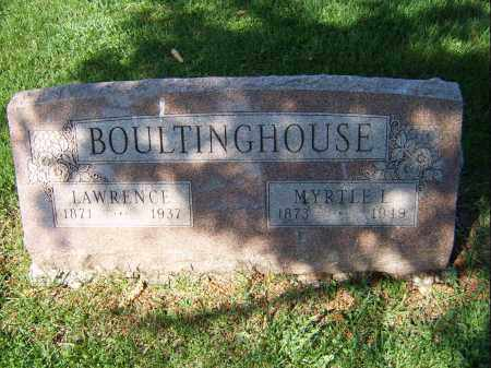 BOULTINGHOUSE, LAWRENCE - Mercer County, Illinois | LAWRENCE BOULTINGHOUSE - Illinois Gravestone Photos