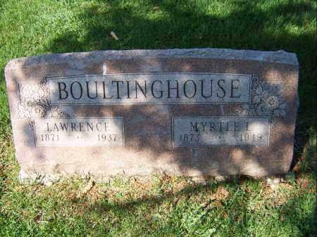 BOULTINGHOUSE, MYRTLE - Mercer County, Illinois | MYRTLE BOULTINGHOUSE - Illinois Gravestone Photos