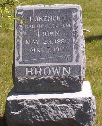 BROWN, FLORENCE - Mercer County, Illinois | FLORENCE BROWN - Illinois Gravestone Photos