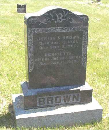 MCCLUHUN BROWN, HENRIETTA - Mercer County, Illinois | HENRIETTA MCCLUHUN BROWN - Illinois Gravestone Photos