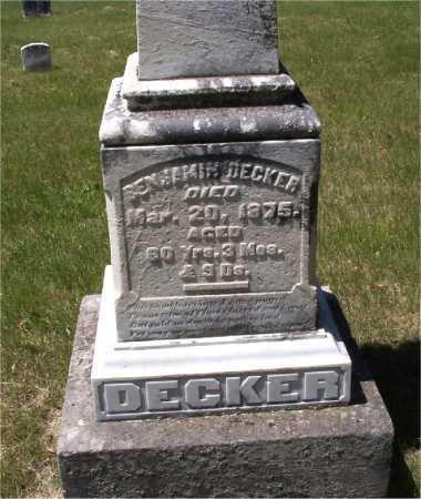 DECKER, BENJAMIN - Mercer County, Illinois | BENJAMIN DECKER - Illinois Gravestone Photos