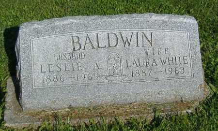BALDWIN, LESLIE A. - Morgan County, Illinois | LESLIE A. BALDWIN - Illinois Gravestone Photos