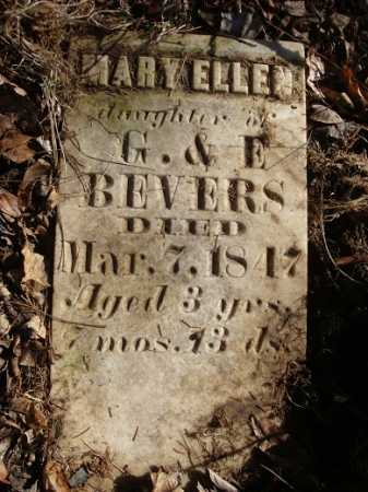 BEVERS, MARY ELLEN - Morgan County, Illinois | MARY ELLEN BEVERS - Illinois Gravestone Photos