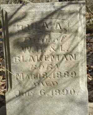 BLAKEMAN, LULA A. - Morgan County, Illinois | LULA A. BLAKEMAN - Illinois Gravestone Photos