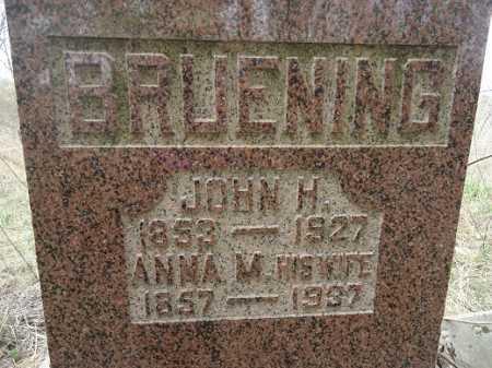 BRUENING, JOHN HERMAN - Morgan County, Illinois | JOHN HERMAN BRUENING - Illinois Gravestone Photos