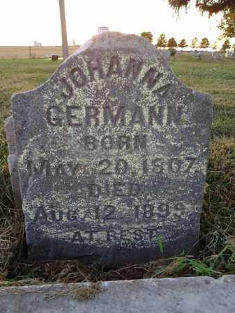 GERMANN, JOHANNA - Morgan County, Illinois | JOHANNA GERMANN - Illinois Gravestone Photos