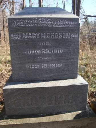 GROSSMAN, MARY M. - Morgan County, Illinois   MARY M. GROSSMAN - Illinois Gravestone Photos