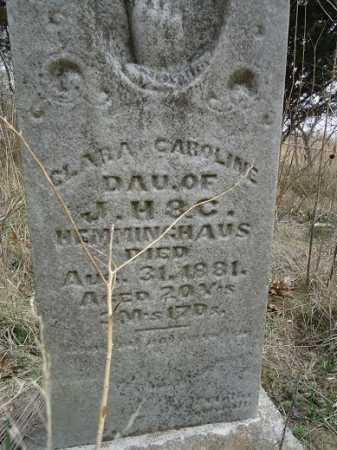 HEMMINGHAUS, CLARA CAROLINE - Morgan County, Illinois | CLARA CAROLINE HEMMINGHAUS - Illinois Gravestone Photos