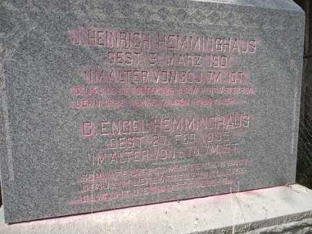 HEMMINGHAUS, JOHANN HEINRICH - Morgan County, Illinois | JOHANN HEINRICH HEMMINGHAUS - Illinois Gravestone Photos