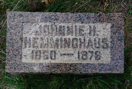 HEMMINGHAUS, JOHNNIE H. - Morgan County, Illinois | JOHNNIE H. HEMMINGHAUS - Illinois Gravestone Photos