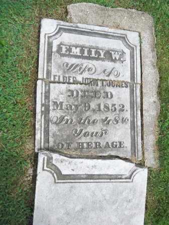 JONES, EMILY W - Morgan County, Illinois   EMILY W JONES - Illinois Gravestone Photos