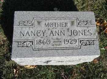 JONES, NANCY ANN - Morgan County, Illinois | NANCY ANN JONES - Illinois Gravestone Photos