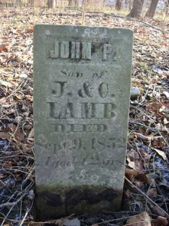LAMB, JOHN P. - Morgan County, Illinois | JOHN P. LAMB - Illinois Gravestone Photos