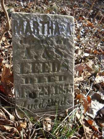 LEEDS, MARTHA A. - Morgan County, Illinois   MARTHA A. LEEDS - Illinois Gravestone Photos