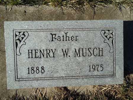 MUSCH, HENRY W. - Morgan County, Illinois | HENRY W. MUSCH - Illinois Gravestone Photos