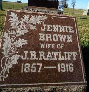 RATLIFF, JENNIE - Morgan County, Illinois | JENNIE RATLIFF - Illinois Gravestone Photos