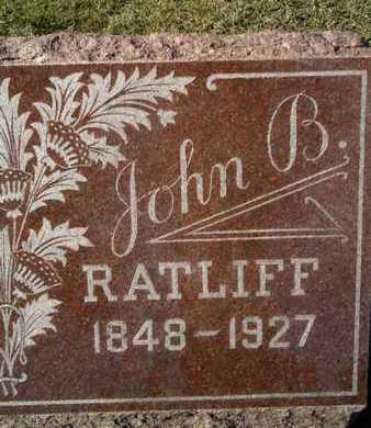RATLIFF, JOHN B. - Morgan County, Illinois   JOHN B. RATLIFF - Illinois Gravestone Photos