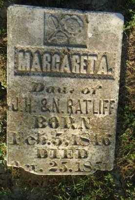 RATLIFF, MARGARET A. - Morgan County, Illinois | MARGARET A. RATLIFF - Illinois Gravestone Photos