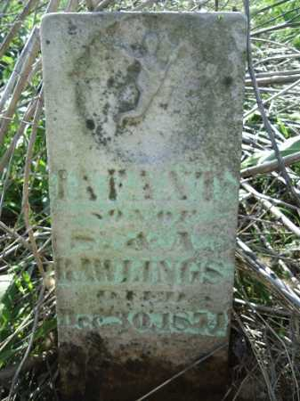 RAWLINGS, INFANT - Morgan County, Illinois   INFANT RAWLINGS - Illinois Gravestone Photos