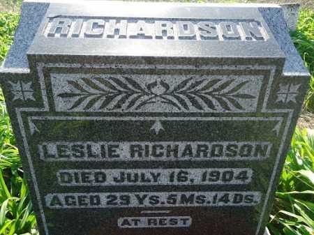 RICHARDSON, LESLIE - Morgan County, Illinois | LESLIE RICHARDSON - Illinois Gravestone Photos