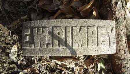 RIMBEY, E.W. - Morgan County, Illinois | E.W. RIMBEY - Illinois Gravestone Photos