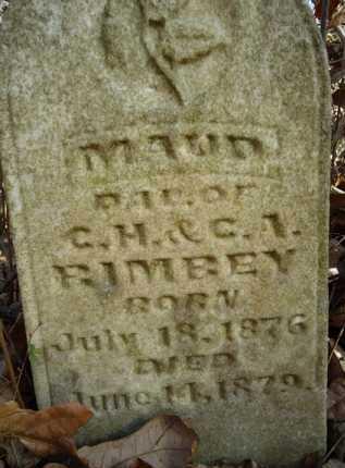 RIMBEY, MAUD - Morgan County, Illinois   MAUD RIMBEY - Illinois Gravestone Photos