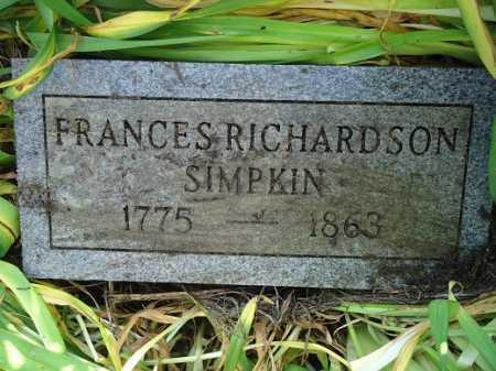 SIMPKIN, FRANCES - Morgan County, Illinois | FRANCES SIMPKIN - Illinois Gravestone Photos
