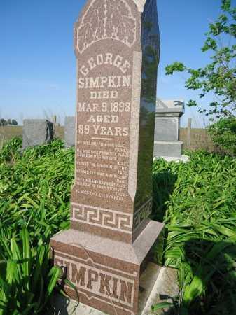SIMPKIN, GEORGE - Morgan County, Illinois | GEORGE SIMPKIN - Illinois Gravestone Photos